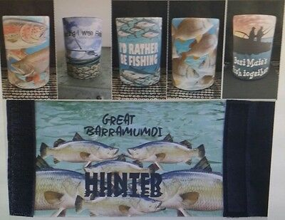 FISH, FISHING, MATES -  range of Stubby holders - Choose one only - GREAT GIFT