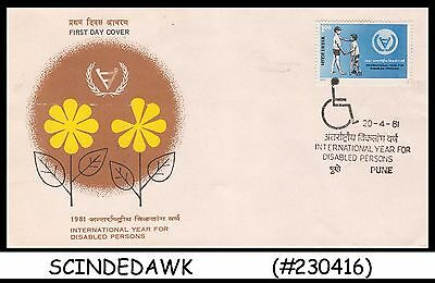 India - 1981 International Year For Disabled Persons - Fdc