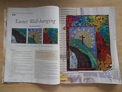 Machine Embroidery & Textile Art Vol 17 #10~Quilts~Bags~Bowl~Easter Wall-Hanging