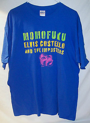 Very Rare Brand New Elvis Costello & The Imposters L Large Momofuku Tour Shirt!!