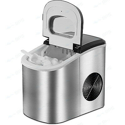 Portable 2L Home Ice Maker Machine Silver Automatic 15-18KG/Day