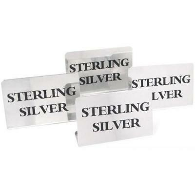 4 Display Signs Sterling Silver Showcase Jewelry
