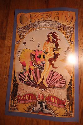The CREAM 68 Electric Factory Psychedelic Poster Official 2nd Print Eric Clapton