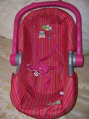 Zapf Creations Baby Born  Doll Zapf Baby Capsule Carrier Pretend Play