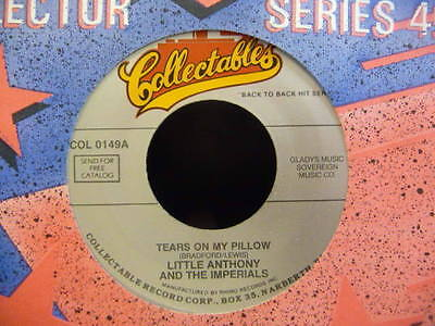 """Jukebox Classic Little Anthony & Imperials"""" Tears On My Pillow  """" Ex+ Cond."""