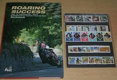 """ROARING SUCCESS"" ISLE OF MAN TT CENTENARY YEAR BOOK - INC. ALL 2007 IoM STAMPS"