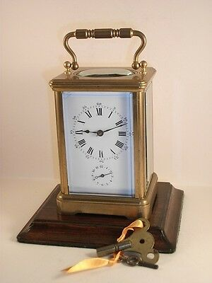 Antique French carriage alarm clock C 1885. MADE BY DROCOURT of Paris. With keys