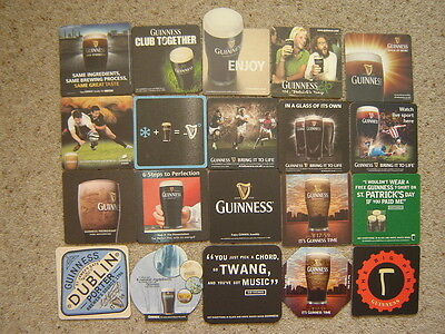 20  Different  Guinness  Beer  Mats / Coasters / Sous Bock  New