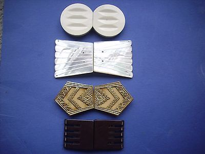 Collection 4 Vintage Buckles - Art Deco Style