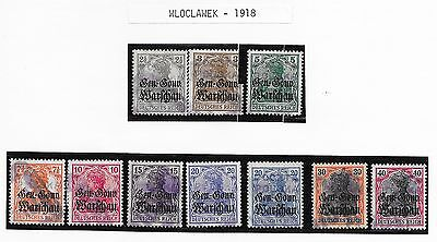 Poland/Wloclawek stamps 1918 Collection of 10 LOCAL stamps  CANC  VF