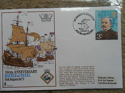 1973 COVER 300TH ANNIVERSARY BATTLE OF TEXEL 11thAUGUST 1673.