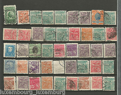 NOV 121 Brazil - Brasil lovely selection of EARLY USED stamps great value $$