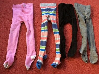 Bundle of four little girl tights ages 3 - 4 years