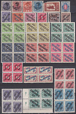 Czechoslovakia 1919/20 provisional issues ovptd. Austria- accumulation MNH/MH/o