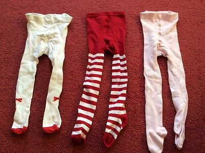 Bundle of 3 little girls tights ages 1 - 2 years