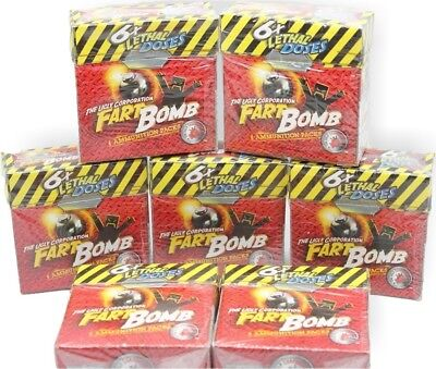 """FART BOMBS 7 Boxes Of 6 Bombs"" That's 42 Lethal Doses ~ Brand New"