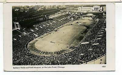 Usa Illinois Chicago Soldiers' Field Football 1947 Real Photo Postcard