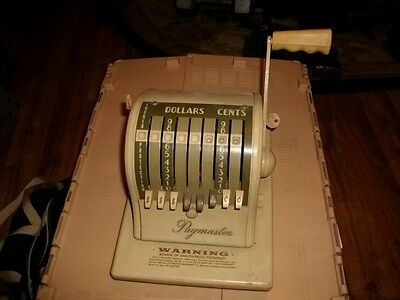 old manual credit card machine with pull handle paymaster  look