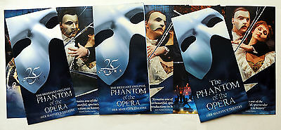 3 X Different Phantom Of The Opera Flyers Her Majesty's Theatre London