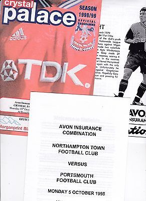 3 (no )  PORTSMOUTH Reserves away programes from 1998/9