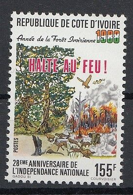 Ivory Coast - Côte d'Ivoire 1988 Year Of The Forest. Fire. Single. MNH. VF.