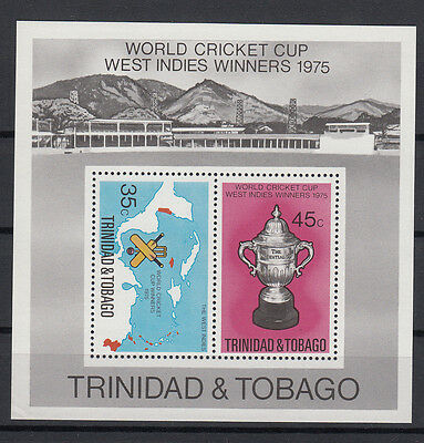 Trinidad & Tobago 1975 World Cup West Indies Winners. S/S. MNH. VF.