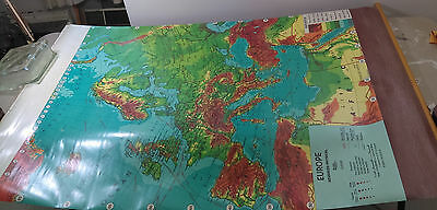 Weber-Costello Classroom Map EUROPE USSR Advanced Physical Roll Pull-down Vtg