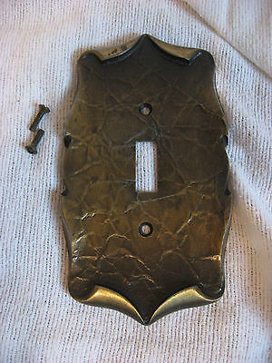 Great Vintage Amerock Single Switch Brass Cover Carriage House