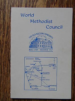 Welcome Card from The Old Rectory at Epworth - World Methodist Council