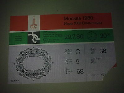 Ticket Olympic Games 29.07.1980 USSR - East Germany (DDR)