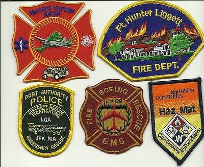 5 Military/ARFF Fire Patches #21