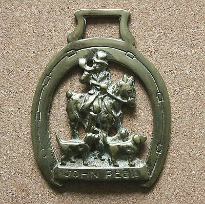 Vintage  Horse Brass ** John Peel On Horse With Dogs