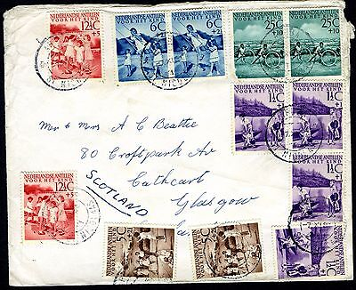 1951 Netherlands Antilles Child Welfare Used On Cover