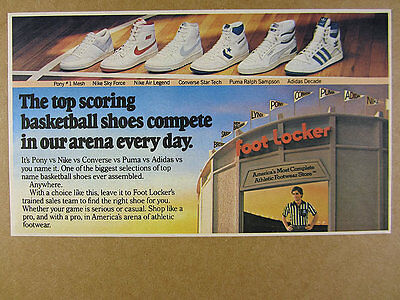 1984 Nike Sky Force Legend Converse Star Tech Adidas Decade + Hi Tops vintage Ad