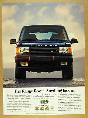 1999 Range Rover 4.6 HSE 'Anything less, is.' vintage print Ad