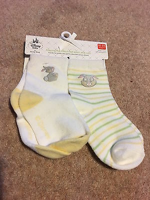 DISNEY baby socks 12-24 months NEW Thumper, neutral, 2 pairs