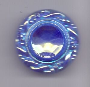 Large iridescent glass vintage button
