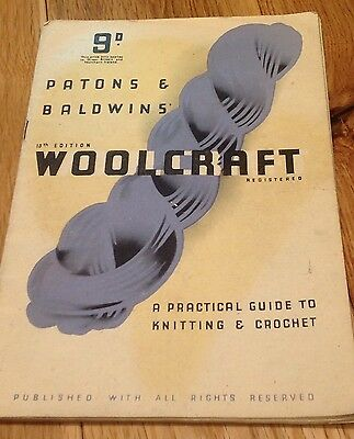Vintage Woolcraft 13Th Edition Learn How To...knitting & Crochet Pattern Booklet