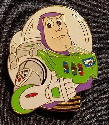 Rare 2001 Disney Wdw Toy Story Blinking Buzz Lightyear Light Up Pin Le 7500