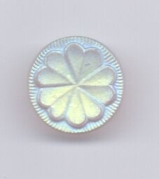 6 iridescent glass vintage buttons
