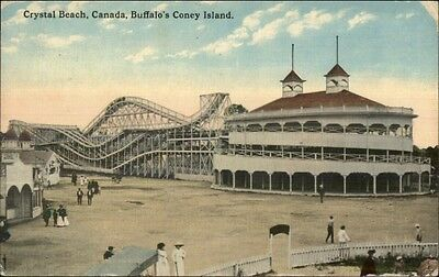 Crystal Beach Canada Buffalo's Coney Island Roller Coaster c1910 Postcard