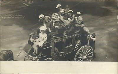 Dudley Stagecoach DARTMOUTH on Side Nova Scotia? c1910 RPPC Postcard