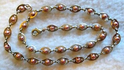 SOLID BRASS Vintage Copper Balls Book Chain Links Bronze Necklace ALL Miss-art