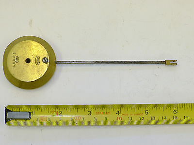 (ref #2) FRENCH mantel/bracket CLOCK PENDULUM SOLID BRASS PERIOD DEAD BEAT JBD