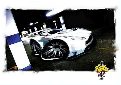 Speed Freaks Track Ad-vantage (White) Poster RRP £4.95 New