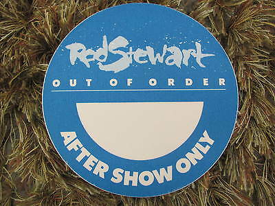 Rod Stewart Out Of Order World Tour Aftershow Backstage Satin Pass