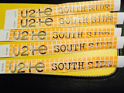 U2 Innocence And Experience World Tour 2015 Standing Wristband Unused South Ora