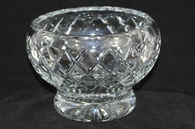 "Heavy Lead Crystal Cut Glass Sweet Bon Bon Bowl 5 3/4"" x 4"" Heavy Quality #r155"