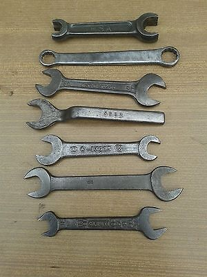 7 X Vintage  Toolkit Spanners, Old Car, Motorcycle,toolkit Items,bsa,a-17015,etc
