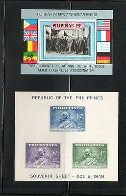 Philippines Two Mnh Mini Sheets 1949-63